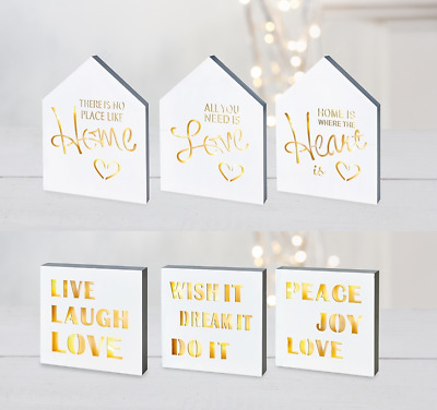 LED LIGHT UP MARQUEE CANVAS Wall Art Poster Picture Prints Home Love Peace Laugh • 8.95£