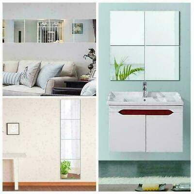 4pcs/set Acrylic Mirror Wall Sticker Room Self Adhesive D6D4 H5L0 Mirror T0A3 • 12.19£