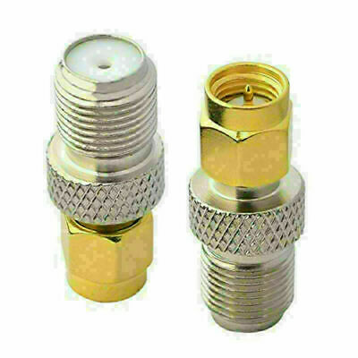 £2.99 • Buy SMA Male To F Type Female Jack Radio Antenna Coaxial Plug Converter Adapter