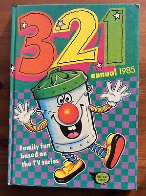 321 Annual 1985, Featuring ITV's Ted Rogers & Dusty Bin, Unclipped Excellent Con • 7.50£