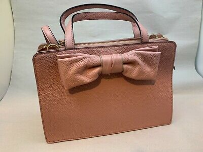 $ CDN112.36 • Buy NWT Kate Spade Rosewood Place Lise Satchel Ribbon Leather Crossbody Pink