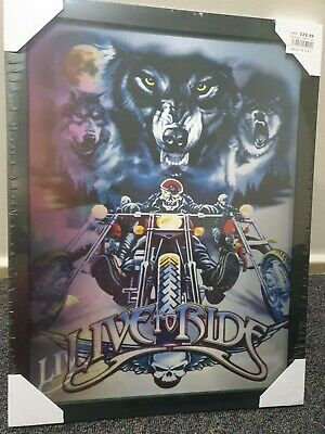 AU29.99 • Buy 3 Dimension 3D LIVE TO RIDE HARLEY-DAVIDSON 3-in-1 Framed Lenticular Picture