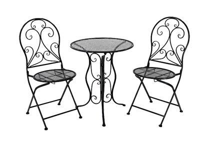 AU289.95 • Buy 3 Piece Garden Bistro Alfresco Patio Setting Outdoor Furniture, Dark Grey