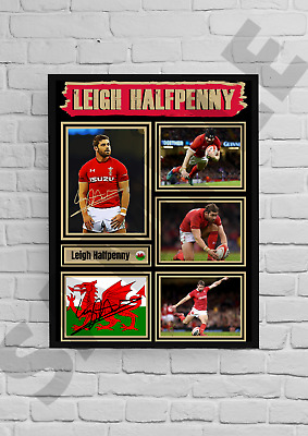 £11.99 • Buy Leigh Halfpenny Wales Rugby Legend A4/A3Unframed/Framed Autograph Gift#49 Signed