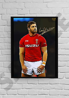 £6.99 • Buy Leigh Halfpenny Wales Rugby Legend A4/A3Unframed/Framed Autograph Gift#50 Signed