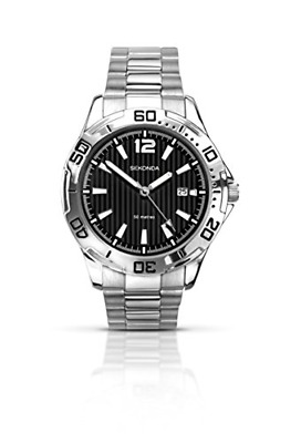 £34.31 • Buy Sekonda Men's Quartz Watch With Black Dial Analogue Display And Silver Stainless
