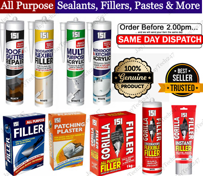 £5.18 • Buy Anti Molud General All Purpose Silicone Sealant Acrylic Leak Roof Gutter Filler