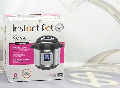 $ CDN113.08 • Buy Instant Pot Duo Nova 8 Quart 7-in-1 One-Touch Multi-Cooker Stainless Steel New