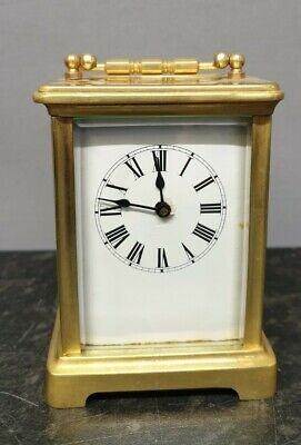 AU314.06 • Buy Vintage Mechanical Brass 8 Day Carriage Carriage Clock