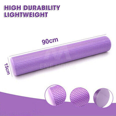 AU29.95 • Buy 90cm Soft EVA PHYSIO FOAM AB ROLLER YOGA PILATES EXERCISE BACK HOME GYM MASSAGE