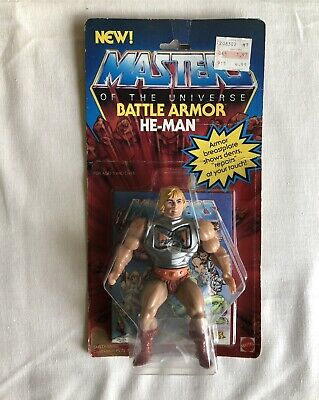 $985 • Buy MOTU,VINTAGE,BATTLE ARMOR HE-MAN,Masters Of The Universe,MOC,sealed Clear Bubble