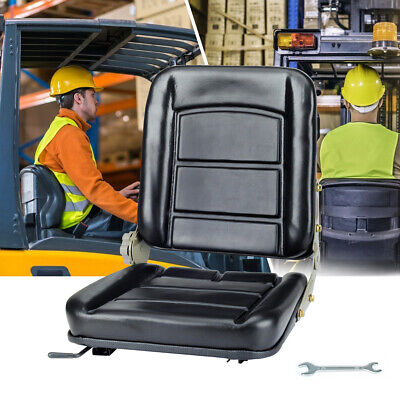 AU74.99 • Buy Forklift Seat Chair Leather Bobcat Adjustable Tractor Excavator Machinery AU