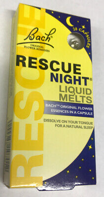 Bach Rescue Remedy NIGHT Liquid Melts - 28 Capsules - 2021 Expiry Date • 4.99£