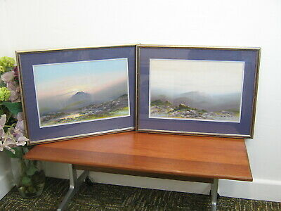£60 • Buy Pair Pictures By Frank Holme 1868-1904 Heather On The Moors / Misty Dartmoor