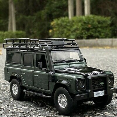 Green Land Rover Defender Car Model Diecast Toy Vehicle  • 21.99£