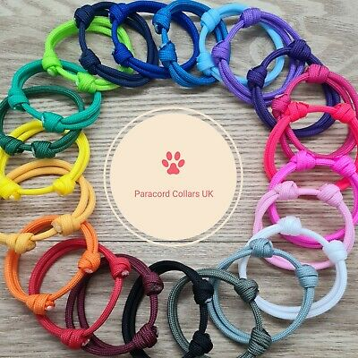 £1.80 • Buy Paracord Whelping Puppy Kitten Id Collars PAIRS, 48 COLOURS Reusable Adjustable