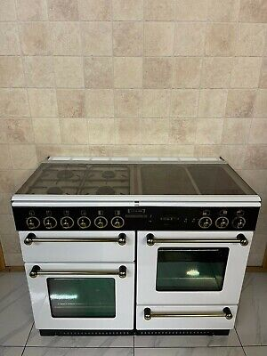 £930 • Buy Leisure By Rangemaster 110 Cm Dual Fuel Range Cooker In White And Brass. Ref-f6