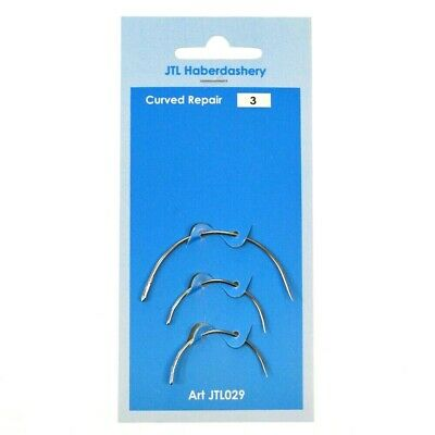 £1.99 • Buy Hand Sewing Curved Needles  Repair Upholstery Craft 3pcs