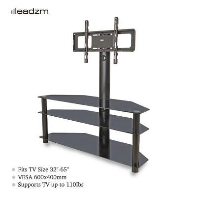 £67.99 • Buy Leadzm TV Cabinet Stand Mount Bracket 30° Swivel For 32-65  TV With Glass Shelve