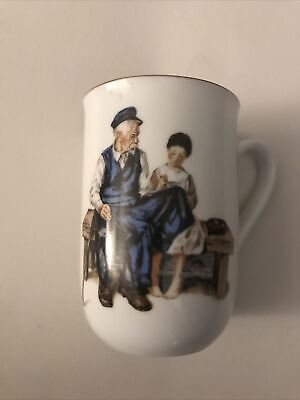 """$ CDN8.54 • Buy Vintage Norman Rockwell Museum """"The Lighthouse Keeper's Daughter Mug Cup 1982"""