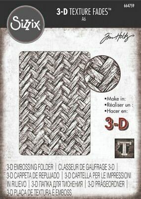 £7.95 • Buy NEW Sizzix 3-D Texture Fades Embossing Folder - Intertwined By Tim Holtz