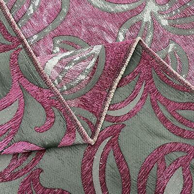 £10.99 • Buy Pink And Grey Leaves Upholstery Furnishing Fabric