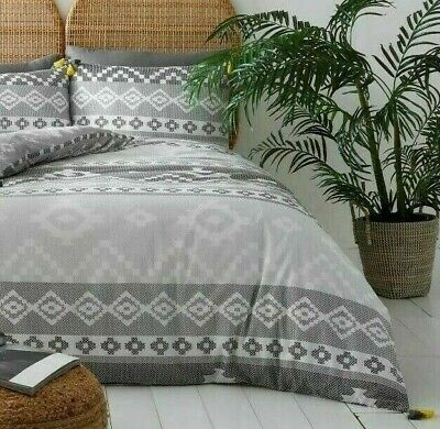 WEBBER Design Lace Tassel Style Duvet Cover With Pillowcase Bedding Set All Size • 16.98£