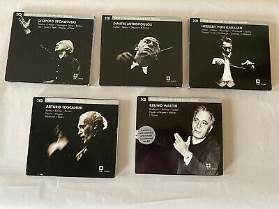 MINT X5 Great Conductors Of The 20th Century CD Sets: Toscanini Stokowski Etc. • 35.76£