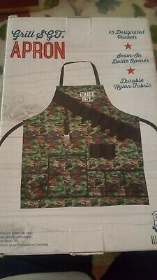 $15.99 • Buy  Grill Sergeant- CAMOUFLAGE Apron For Men