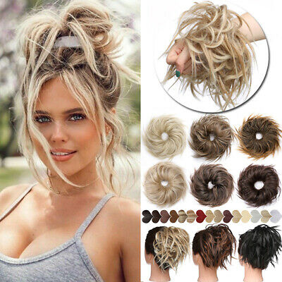 £8.82 • Buy Messy Bun Hair Piece Scrunchie Updo Cover Curly Hair Extensions Real As Human