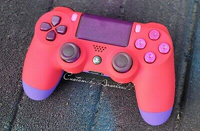 AU182.22 • Buy 💙playstation/ps4 V2 Custom Red/pink Controller Soft Touch W Bullet Buttons 💙