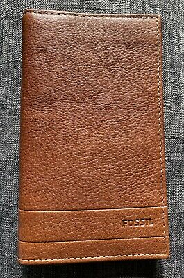 $45.88 • Buy Fossil Men's Lufkin Executive Checkbook Multi Function Brown Wallet SML1398210