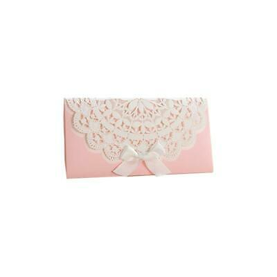 Pink Laced Decorative Money Envelope With Satin Bow • 2.50£