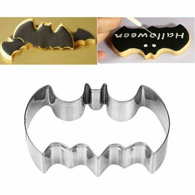 1pcs Stainless Steel Batman Cookie Cutter Cake Mold Bat Halloween Baking Set Bat • 2.72£