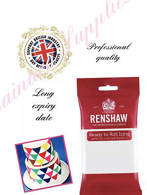 White Renshaw Ready To Roll Icing Sugar Paste 250g *Long Expiry Date* • 2.99£