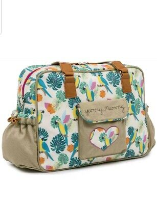 Pink Lining YUMMY MUMMY CHANGING BAG - PARROT CREAM Baby Changing Nappies BNIP • 34.99£