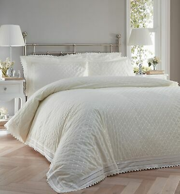 Cream Vintage Lace Broderie Anglaise Bedding / Duvet Cover Set • 45.99£