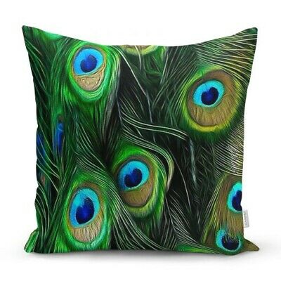 Peacock / Botanical / Tropical / Leaf Cushion Cover • 12.99£