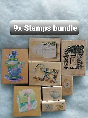 📫 And Mix Crafting Stamps Bundle, 9 Stamps (storage Clear Out)  • 10£