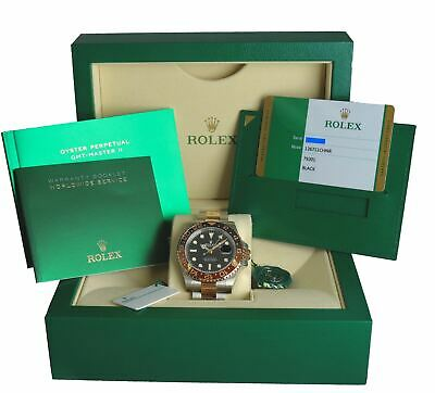 $ CDN24733.38 • Buy NEW Rolex GMT-Master II Root Beer Two-Tone 18K Rose Gold 126711 CHNR Stainless