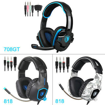 AU26.99 • Buy Sades 3.5mm Gaming Headset Mic Surround Stereo Headphones For PC Laptop Xbox One