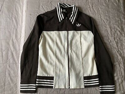 Adidas Vintage Track Top Schwahn Erzeugnis Sz S Made In West Germany DEFECT Hole • 76.98£
