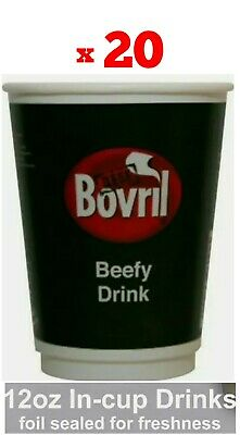 £11.99 • Buy 20x BOVRIL DRINKS 12oz In CUP 2GO Catering/Camping/Workplace (Pack Of 20 Cups