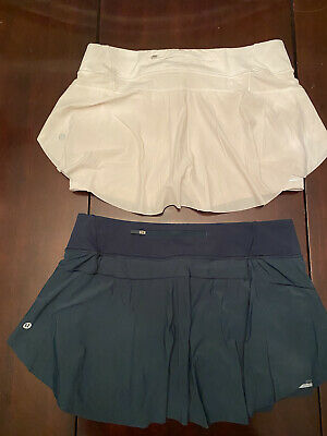 "$ CDN99.99 • Buy Lululemon LOT Lululemon Quick Pace Skirt Size 10 Reg 13"" Submare White"