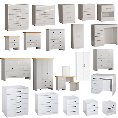 £75.95 • Buy Bedroom Furniture Chest Of Drawers Bedside Table Dresser Chest Of Drawers 2 3