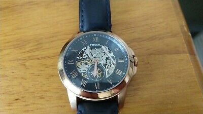 $34.99 • Buy *FOR PARTS* Fossil ME3054 - Navy Blue Strap *FREE SHIPPING*