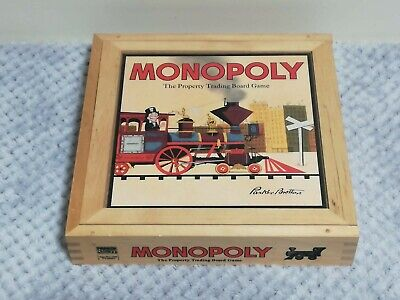 Monopoly Classic Board Game From Hasbro Gaming Wooden Box • 74.95£