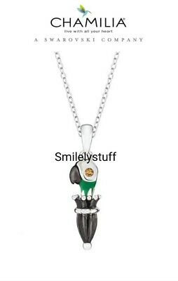 £59.99 • Buy Genuine CHAMILIA 925 Silver DISNEY Mary Poppins PARROT PARASOL Necklace