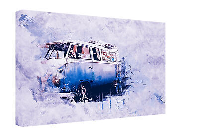 £25.99 • Buy Abstract Style Graffiti Vintage VW Camper Van Canvas Print Wall Art Picture
