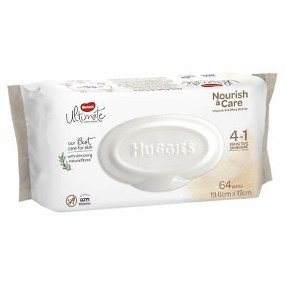 AU5.99 • Buy Huggies Baby Wipes - Nourish And Care - 64 Pack
